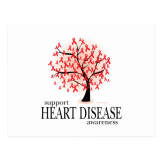Heart Disease Tree Postcard