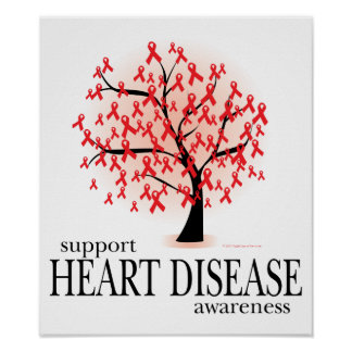 Heart Disease Tree Poster