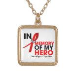 Heart Disease Tribute In Memory of My Hero Pendants