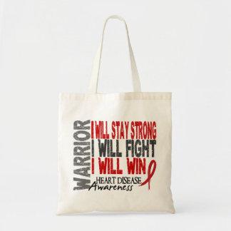 Heart Disease Warrior Budget Tote Bag