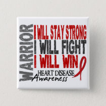 Heart Disease Warrior Button