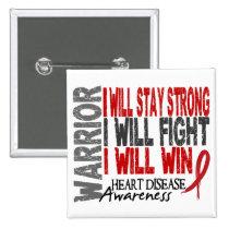 Heart Disease Warrior Button