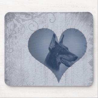 Heart Doberman Pinscher Mouse Pad