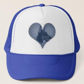 Heart Doberman Pinscher Trucker Hat