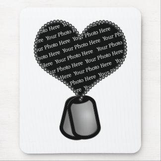 Heart Dog Tag Photo - DIY Custom Mouse Pad