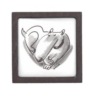 heart dog transparent jewelry box