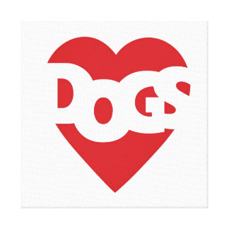 Heart Dogs Canvas Print