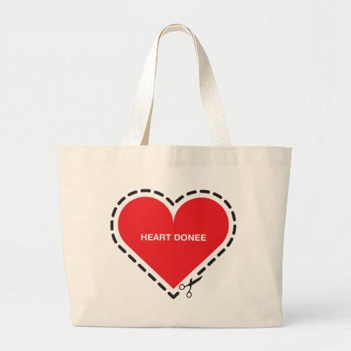Heart Donee Jumbo Tote Bag