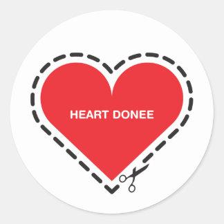 Heart Donee Sticker