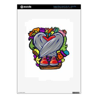 Heart Doodle Character iPad 3 Decal