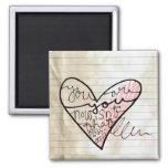 heart doodle of love refrigerator magnet
