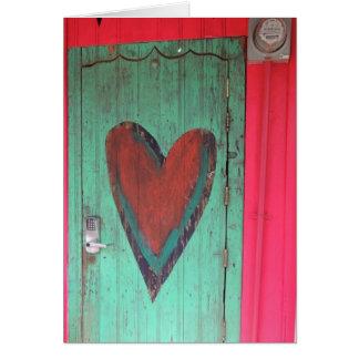 Heart Door Valentine Card