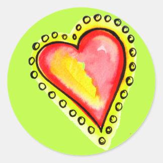 Heart Dot Dot Dot Classic Round Sticker