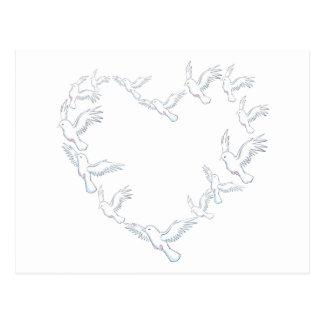 Heart Dove Postcard