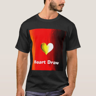 Heart Draw Poker T-shirt by Teo Alfonso