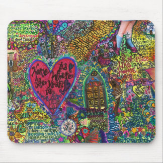 Heart drawing mouse pad
