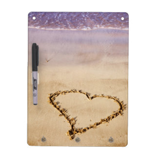 Heart Drawn in Sand at Beach - Customized Template Dry-Erase Board