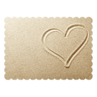 Heart Drawn In The Sand Card