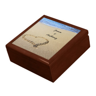 Heart Drawn in the Sand template Keepsake Box