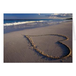 Heart Drawn on the Beach Card