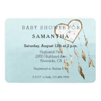 Heart Dream Catcher baby shower Card