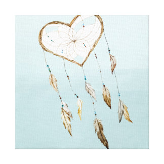 Heart Dream Catcher Canvas Print