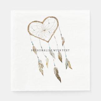 Heart Dream Catcher Napkin