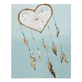 Heart Dream Catcher Poster