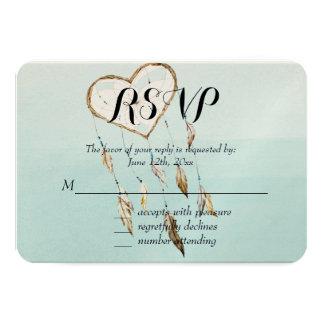 Heart Dream Catcher RSVP Card