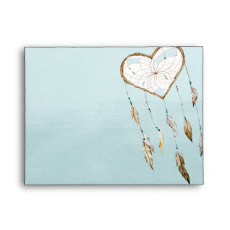 Heart Dream Catcher Watercolor Envelope
