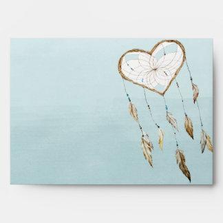 Heart Dream Catcher Watercolor Envelope