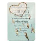 Heart Dream Catcher Wedding Card