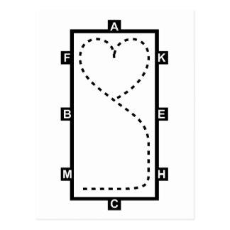 Heart Dressage Circle Postcard