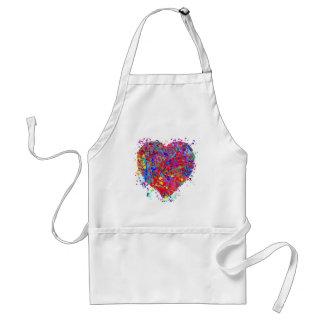 Heart, Drip Art Apron