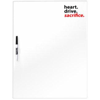 Heart Drive Sacrifice Fitness Motivation Slogan Dry-Erase Board