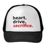 Heart Drive Sacrifice Fitness Motivation Slogan Trucker Hat