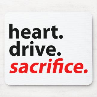 Heart Drive Sacrifice Fitness Motivation Slogan Mousepad