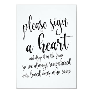 Heart Drop Guest Book Affordable Wedding Sign Invitation
