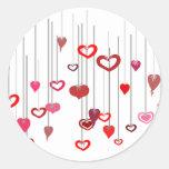 Heart Drops Classic Round Sticker