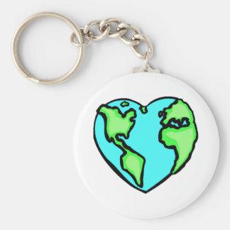 Heart Earth Key Chains