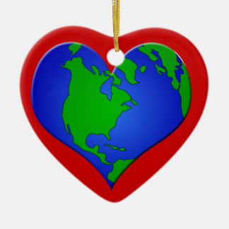 HEART EARTH ORNAMENT - LOVE OUR PLANET!
