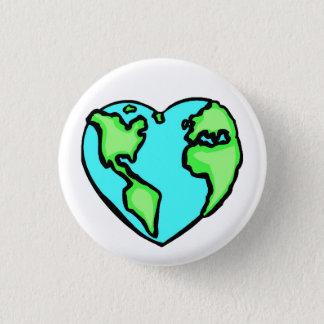 Heart Earth Pinback Button