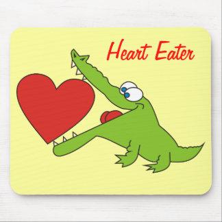 Heart Eater Funny Crocodile Mousepad