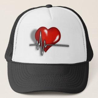 Heart ECG Trucker Hat