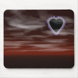 Heart Eclipse Mouse Pad