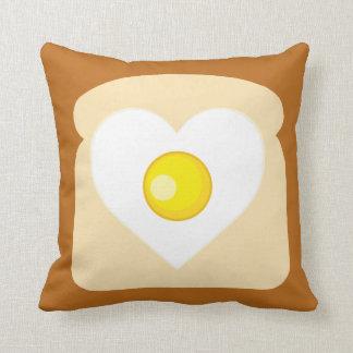 Heart Egg Toast Pillow