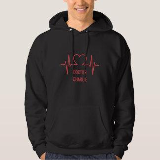 Heart EKG custom name & occupation clothing Hoodie