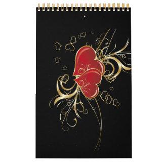 Heart Elegance Guest Book (notebook) Calendar