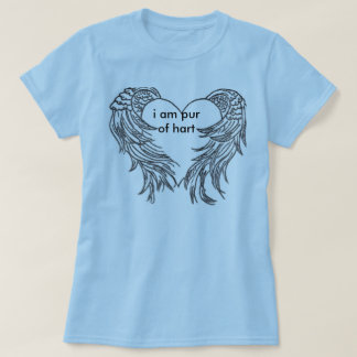heart-embraced-by-angel-wings, i am pur of hart t-shirt