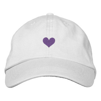 HEART EMBROIDERED BASEBALL CAP